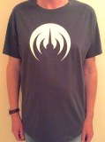 DARK GRAY T-SHIRT/WHITE LOGO