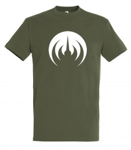 ARMY KHAKI T-SHIRT/WHITE LOGO