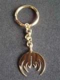 PORTE-CLES sigle métal doré