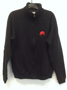 MAGMA logo zipped sweatshirt Red embroidery