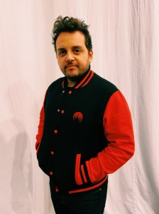 Teddy fleece jacket red MAGMA logo embroidery