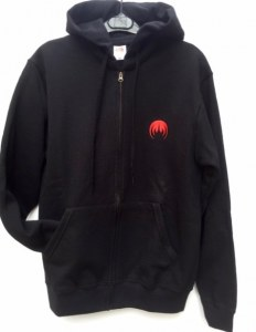 Full zip hooded MAGMA logo red embroidery