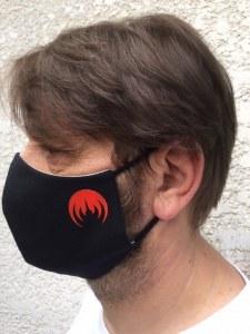 MAGMASK Black / red logo.