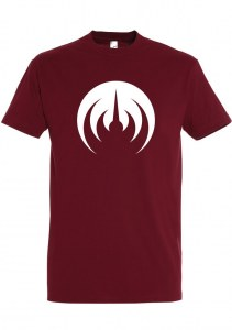 BURGUNDY/WHITE MAGMA T-SHIRT