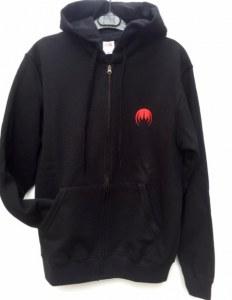Sweat capuche zippé logo MAGMA broderie rouge