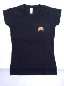 T-Shirt Femme, Col V, Sigle MAGMA cuivre